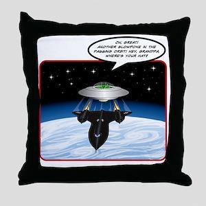 UFO Tailgater Throw Pillow