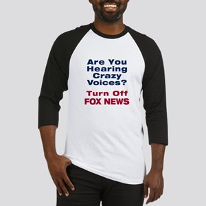 Turn Off Fox News Baseball Jersey