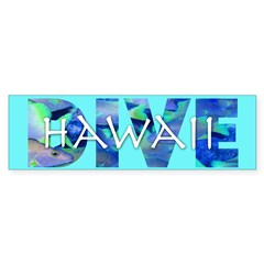 Dive Hawaii Bumper Bumper Sticker