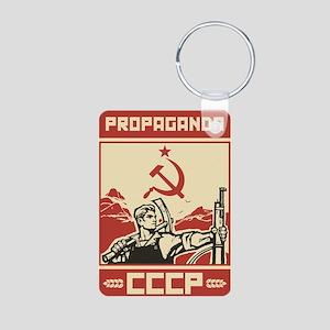 Soviet vintage propaganda Aluminum Photo Keychain