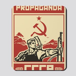 Soviet vintage propaganda Mousepad