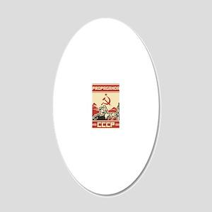 Soviet vintage propaganda 20x12 Oval Wall Decal