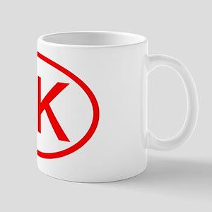HK Oval (Red) Mug