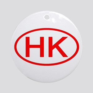 HK Oval (Red) Ornament (Round)