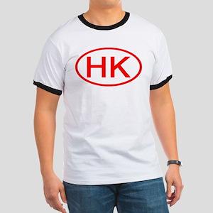HK Oval (Red) Ringer T