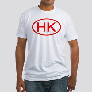 HK Oval (Red) Fitted T-Shirt