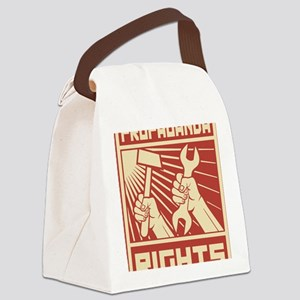 Rights Workers Propaganda Canvas Lunch Bag