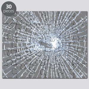 Broken Glass 2 Gray Puzzle