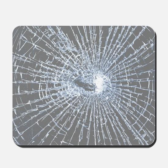 Broken Glass 2 Gray Mousepad