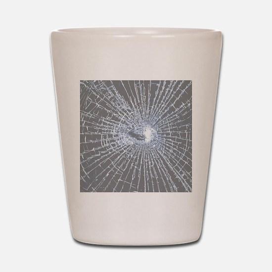 Broken Glass 2 Gray Shot Glass