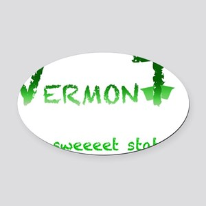 Vermont Sweeeet Oval Car Magnet