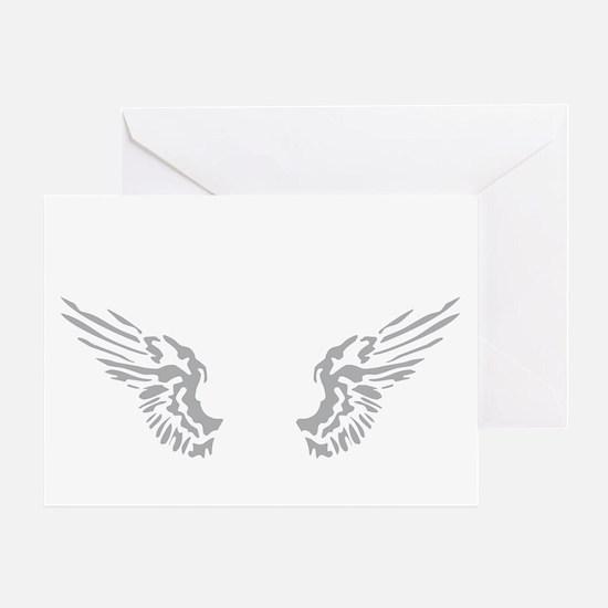 Guitar wings 04-2013 A 2c black Greeting Card