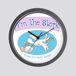 Im the Stork - Surrogate Mother Wall Clock