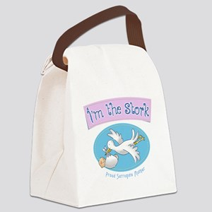 Im the Stork - Surrogate Mother Canvas Lunch Bag