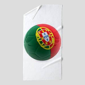 Portugal World Cup Ball Beach Towel