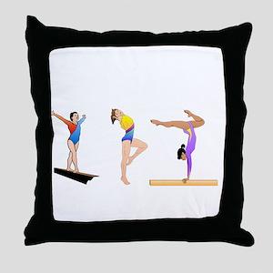 gymnasticsbpdf2tran Throw Pillow