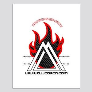 BJJ FIRE Small Poster