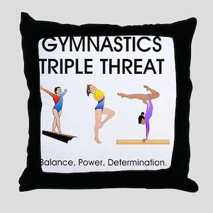 gymnasticsbpdf2 Throw Pillow