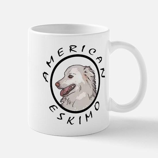 american eskimo b/w Mug