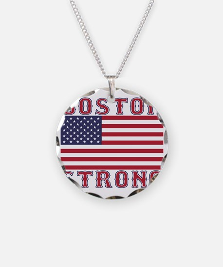 BOSTON STRONG U.S. Flag Necklace