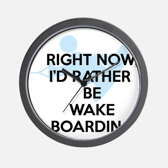 Rather be wakeboarding Wall Clock