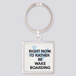 Rather be wakeboarding Square Keychain
