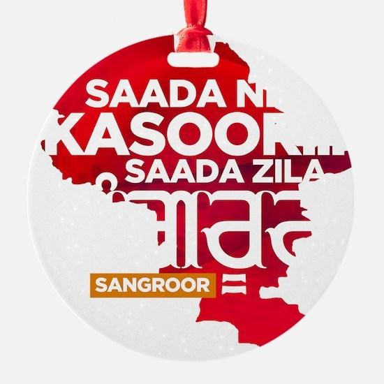 Saada Zila Sangroor T-shirt Ornament