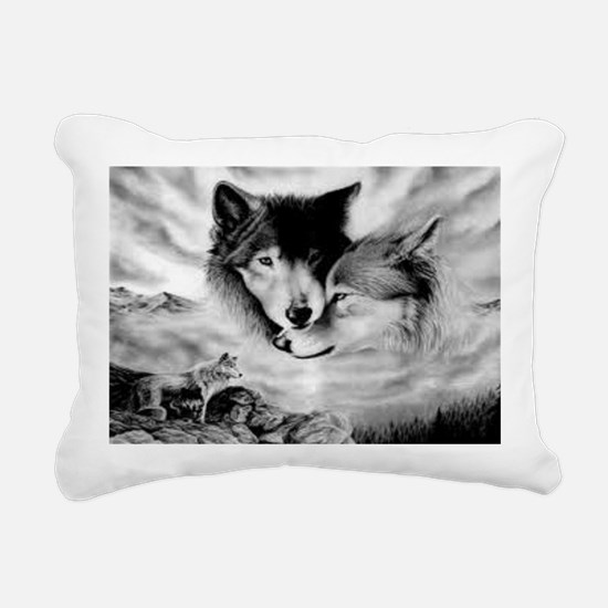 Wolves Rectangular Canvas Pillow