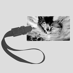Wolves Large Luggage Tag