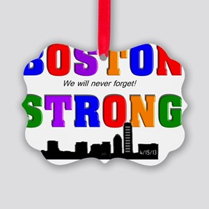 boston strong 3 Picture Ornament
