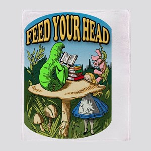 Feed Your Head Throw Blanket