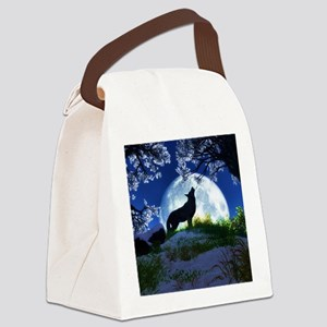 Howling Wolf Canvas Lunch Bag