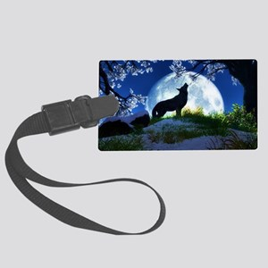 Howling Wolf Large Luggage Tag