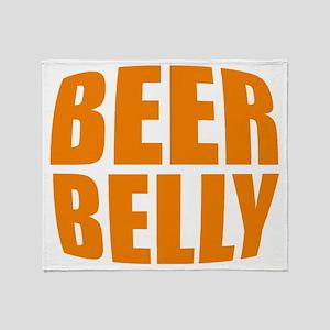 Beer belly Throw Blanket