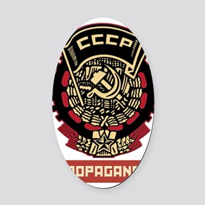 Soviet vintage Propaganda Oval Car Magnet
