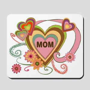 Hearts for Mom Mousepad