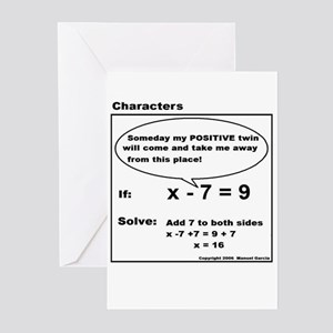 ADD TO BOTH SIDES OF EQUATION Greeting Cards (Pack