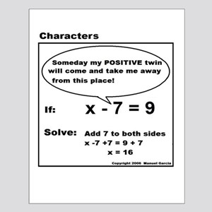 ADD TO BOTH SIDES OF EQUATION Small Poster