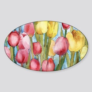 Tulip Party Sticker (Oval)