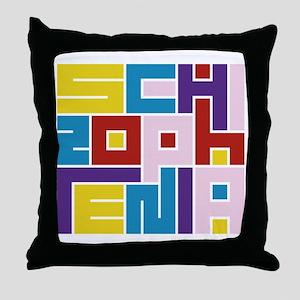 Schizophrenia Maze Throw Pillow