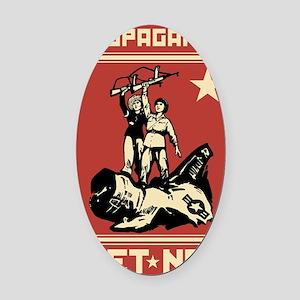 Vietnam vintage Propaganda Oval Car Magnet