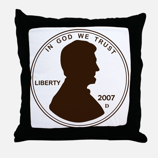 Penny Lincoln Silhouette Throw Pillow