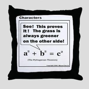 PYTHAGOREAN THEOREM Throw Pillow