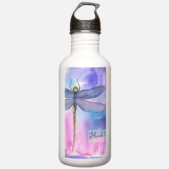 Dragonfly Thank You Water Bottle