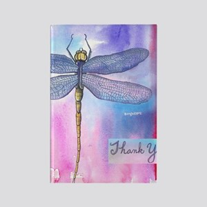 Dragonfly Thank You Rectangle Magnet