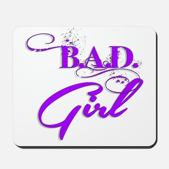 Purple Bad Girl logo Mousepad