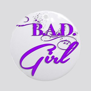 Purple Bad Girl logo Round Ornament
