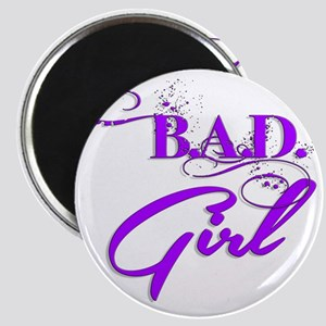 Purple Bad Girl logo Magnet