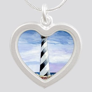 American Lighthouse Silver Heart Necklace