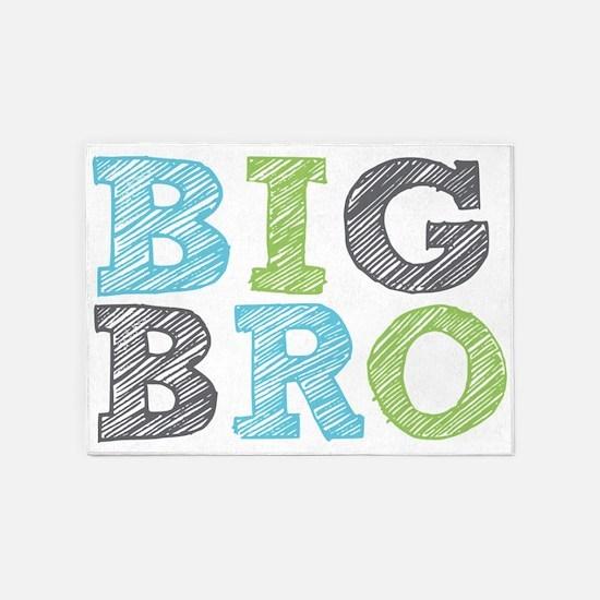 Sketch Style Big Bro 5'x7'Area Rug